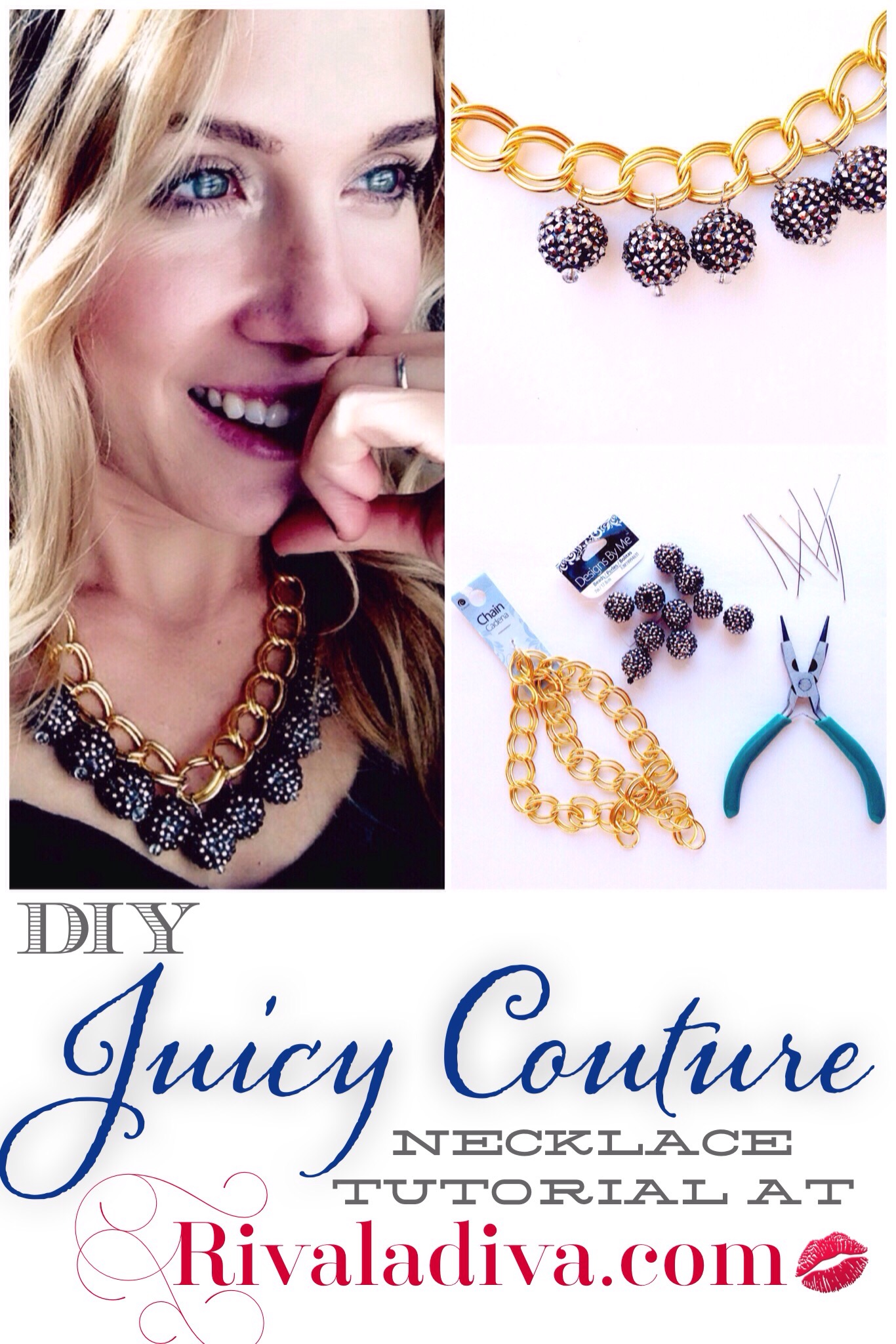 DIY Juicy Couture Necklace