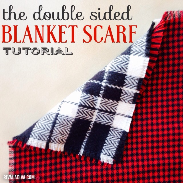 DIY Double Sided Blanket Scarf Tutorial