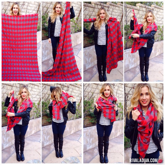 DIY Blanket Scarf Tutorial