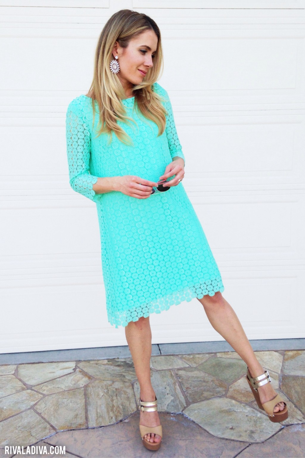 DIY Juicy Couture Inspired Mint Lace Dress