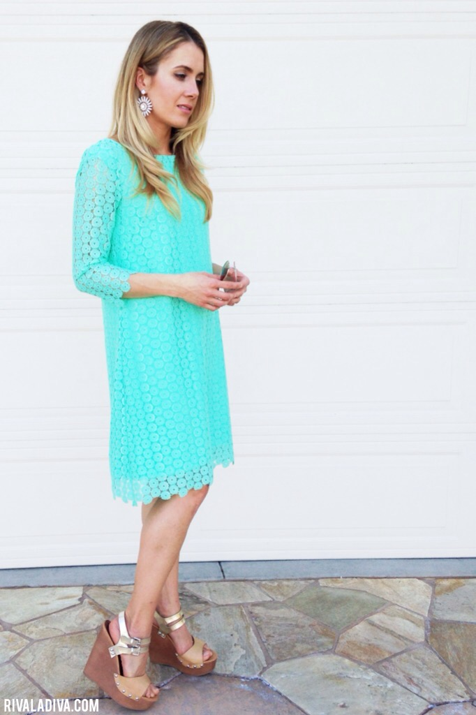 DIY Juicy Couture inspired Lace Mint Dress Tutorial
