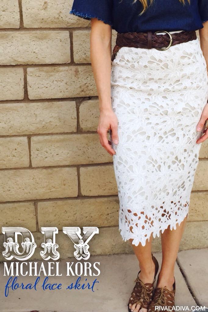 DIY Michael Kors Inspired Lace Skirt Tutorial