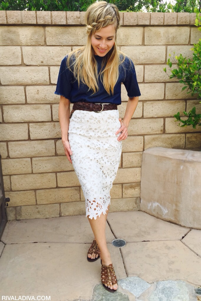 DIY Michael Kors Inspired Lace Skirt Tutorial