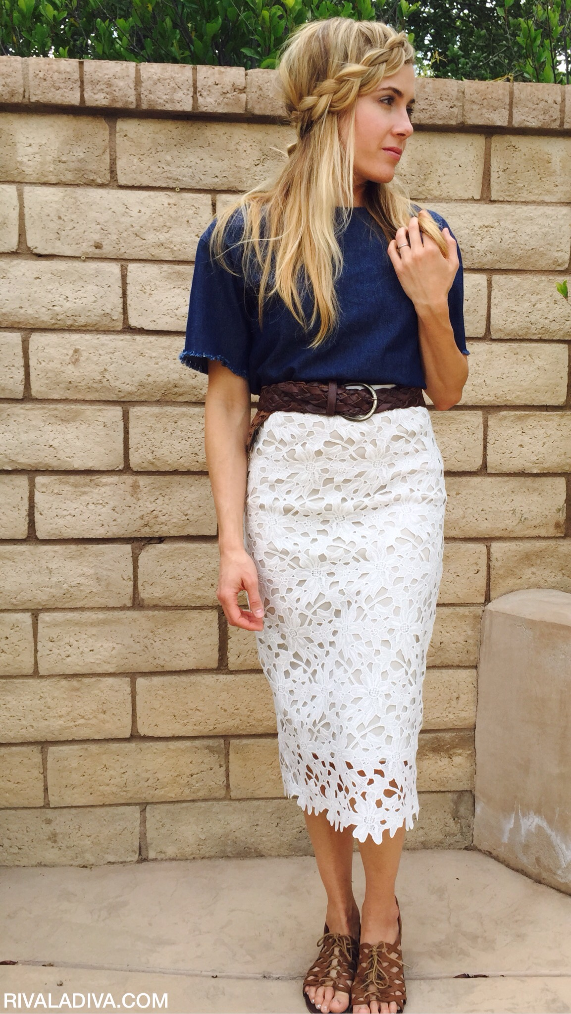 DIY Michael Kors Inspired Lace Skirt - Riva la Diva
