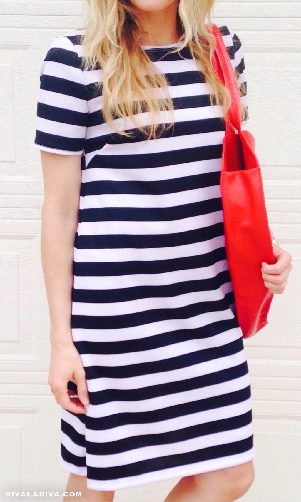 DIY Kate Spade Inspired Stripe Dress