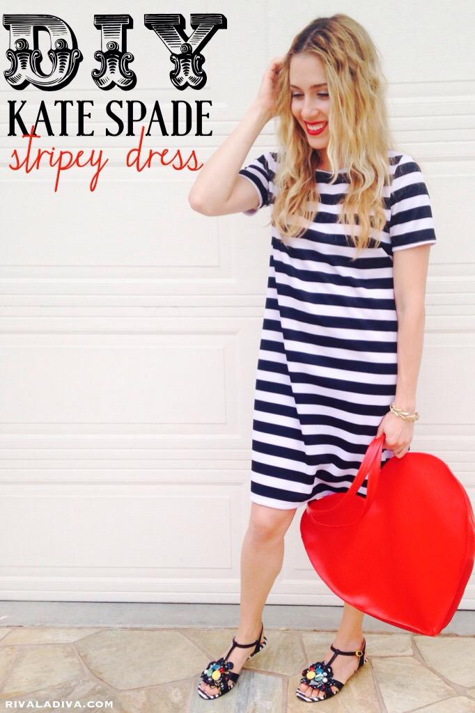 DIY Kate Spade Inspired Stripey Dress Fashion Tutorial