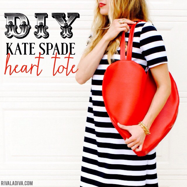 Kate Spade Inspired Heart Tote Tutorial