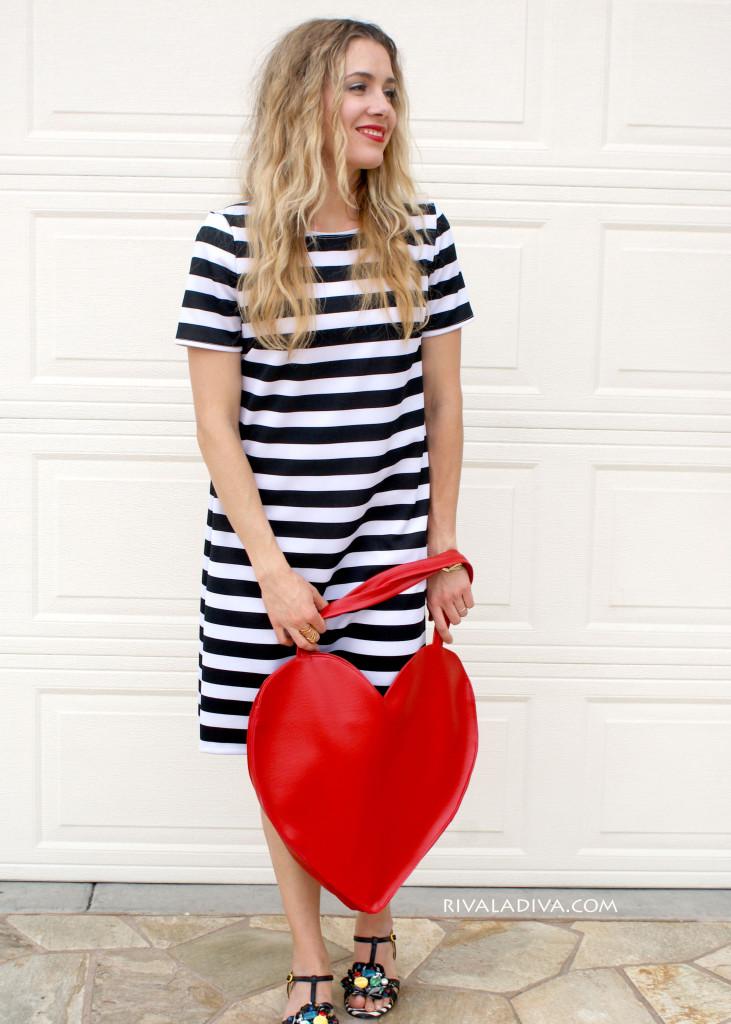 Kate Spade Inspired Heart Tote Tutorial