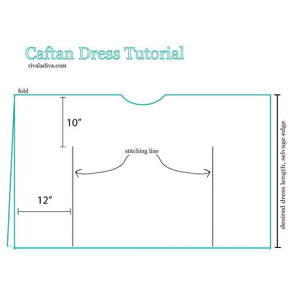 The Perfect Summer Caftan Dress Tutorial