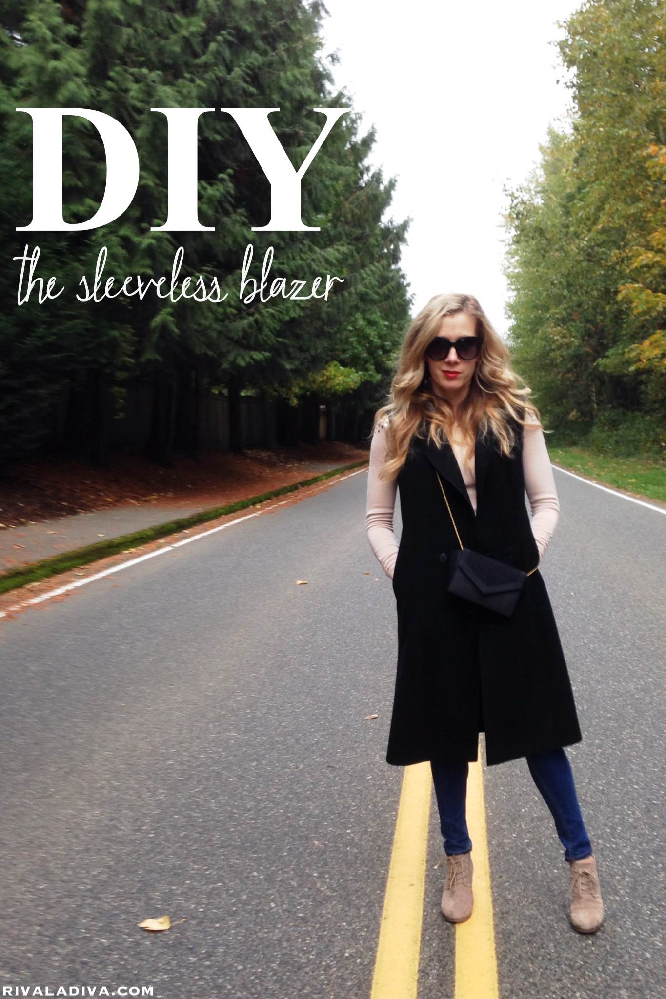 DIY Sleeveless Blazer