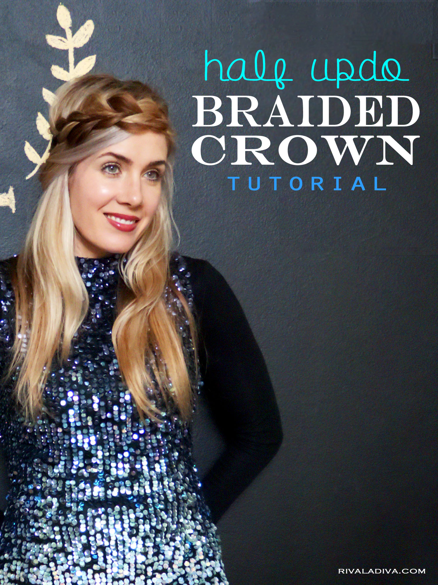 Half Updo Braided Crown, French Connection 12