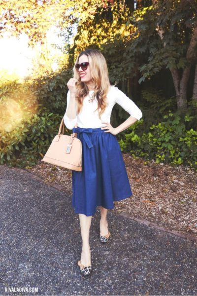 DIY Marc Jacobs inspired Wrap Denim Skirt