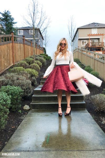 Rosy Hues + DIY Bell Sleeve