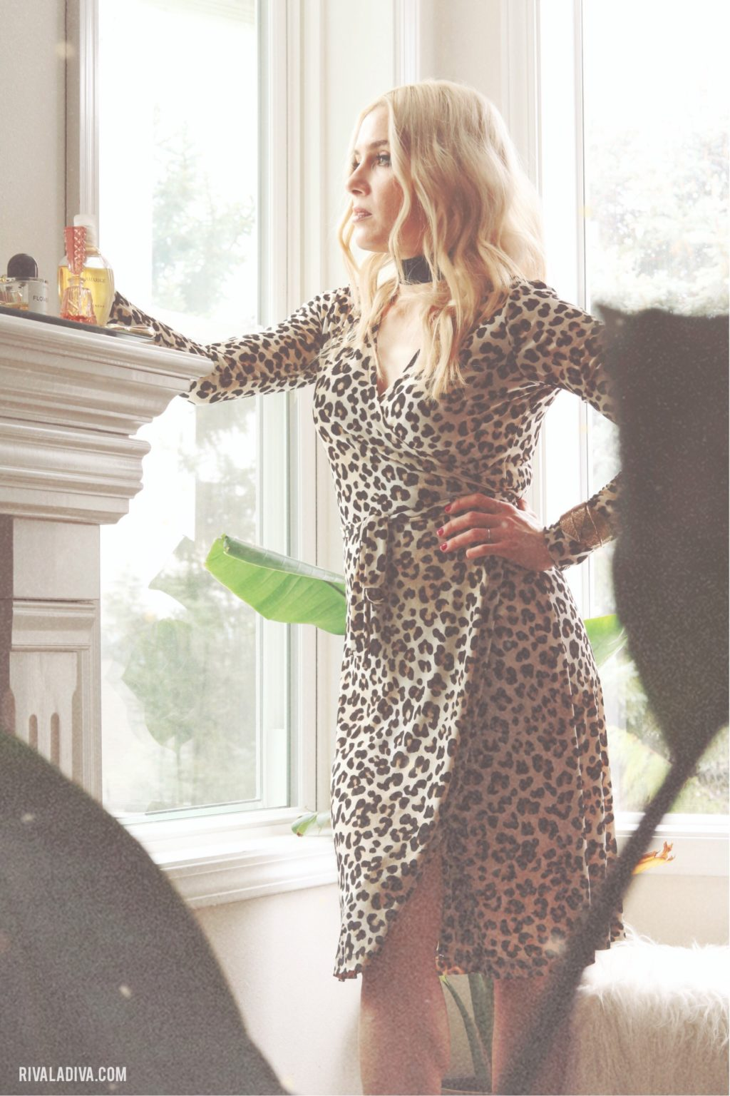 Lady in Leopard // Making the Perfect Wrap Dress