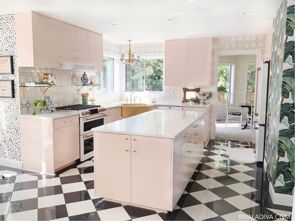 Blush Kitchen cabinets that will inspire you to use more blush in your space!