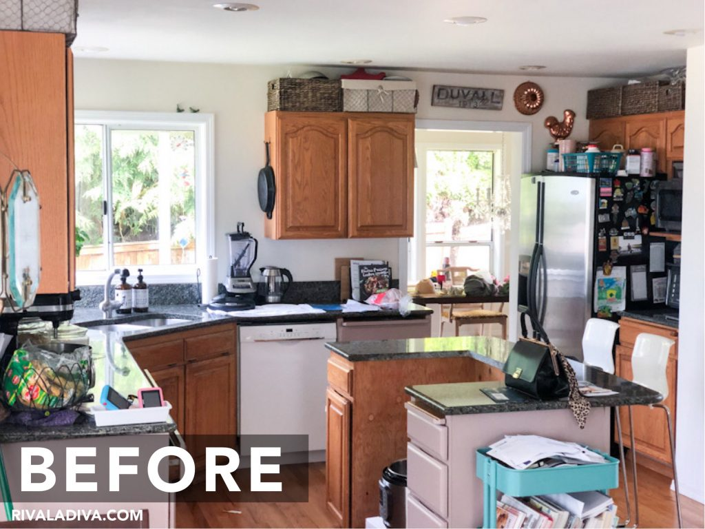 Before and after. Kitchen Inspiration REVEAL at RivaLaDiva.com