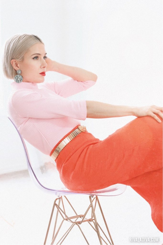 Palm Springs Mod Style look, Color Block Outfit