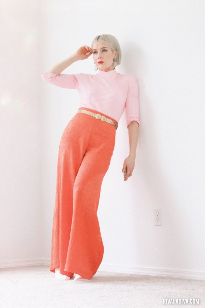 DIY Style, two-tone spring look, Burda sewing, Color Block Outfit